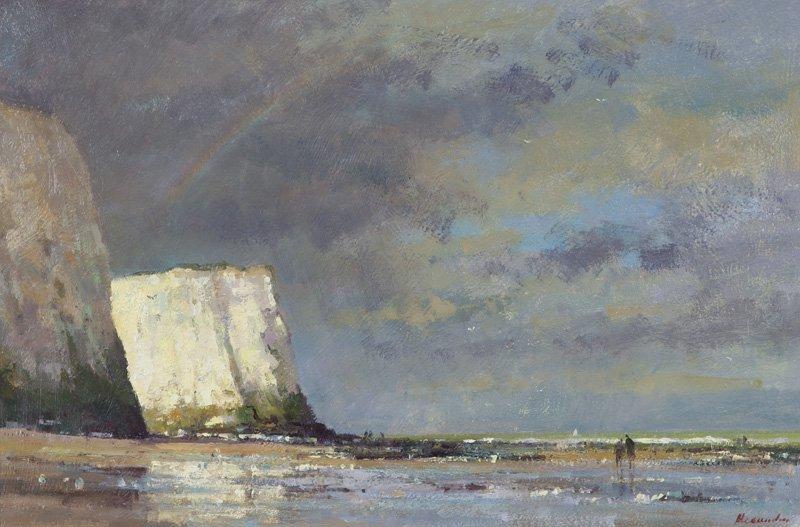 "Matthew Alexander, ""On Botany Bay, Kent"" oil on"