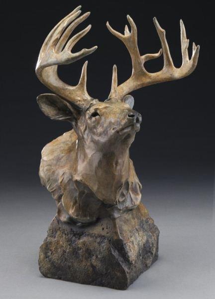 """Sherry Salari Sander, """"Whitetail Deer Bust"""""""