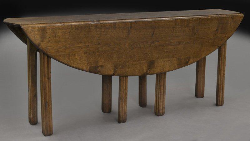 """Oak drop leaf """"wake"""" table,"""