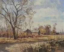 "Paul Strisik, ""Edge of Taos"" oil on canvas, 1983."