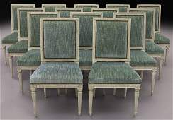 Set 14 Louis XVI style dining chairs
