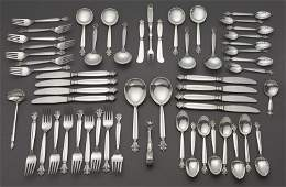 56 Pcs. Georg Jensen Acanthus sterling silver