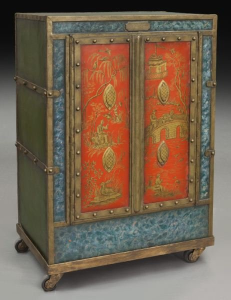 19th C. iron safe converted to bar,