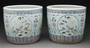 Pr. Chinese famille rose porcelain jardinières