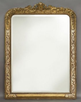 Victorian Gilt Wood And Gesso Over-mantel Mirror,