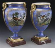 Pr 19th C French Old Paris porcelain urns