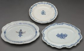 (3) Continental Faience Ceramic Plates