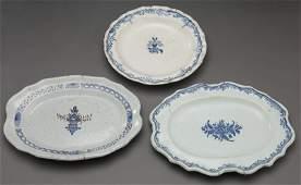3 Continental faience ceramic plates