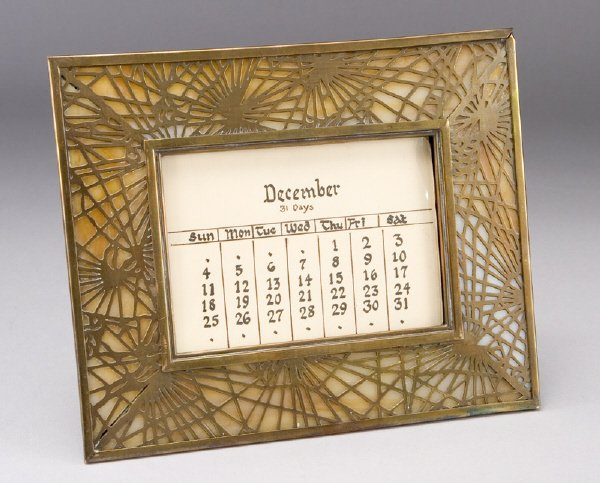 1: A Tiffany Studios perpetual calendar in the