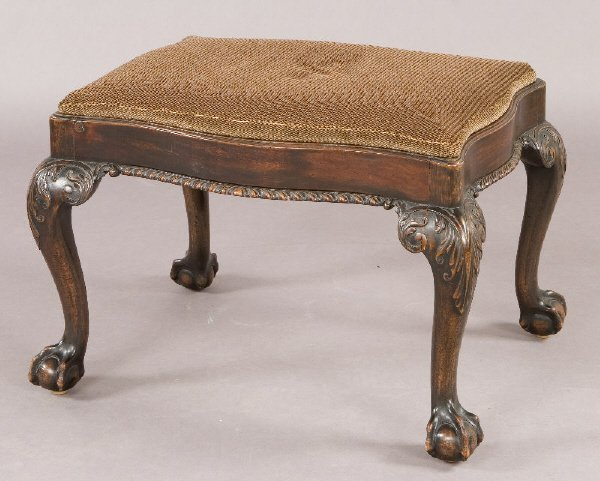 3: A Georgian style stool with serpentine shaped
