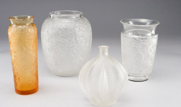 5: (4) Lalique vases including
