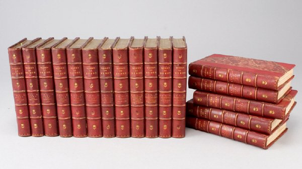"""6: 17 Vols. """"The Works of Lord Byron, with his"""