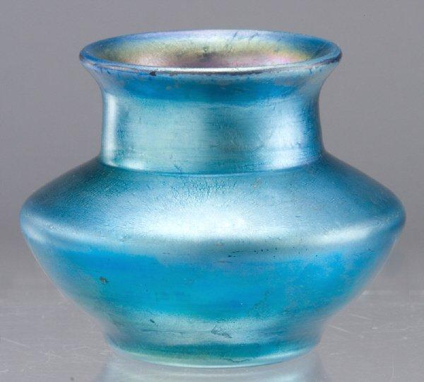 9: Attributed to Steuben aurene art glass vase of