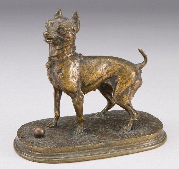 10: Pierre Jules Mene bronze figure of a Crop-eared