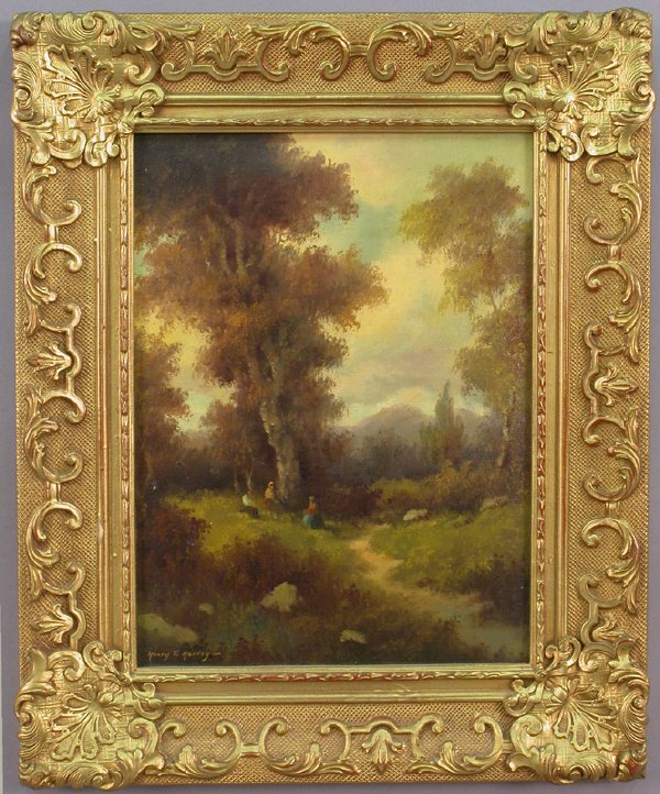 12: Henry T. Harvey oil painting on canvas laid on