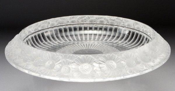 """14: Lalique """"Marguerites"""" large centerpiece bowl"""