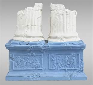 """193: A Wedgwood jasper """"Two Ruined Columns,"""" vase"""