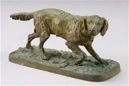 297 Pierre Jules Mene bronze figure of a Retriever