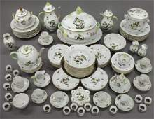 98 Pcs Herend Rothschild Bird dinner service