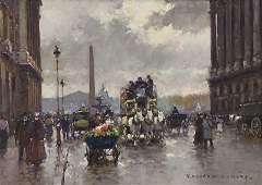 """Edouard Cortes """"Rue Royale et Place de la"""