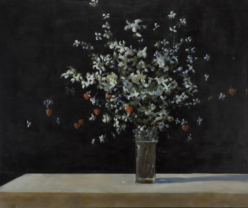 "Julio Larraz ""Dogwood"" oil on canvas, 1975."