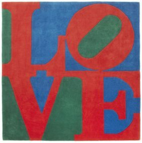"""After Robert Indiana """"classic Love"""" Wool"""