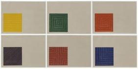 """Frank Stella """"benjamin Moore Series (complete Set"""