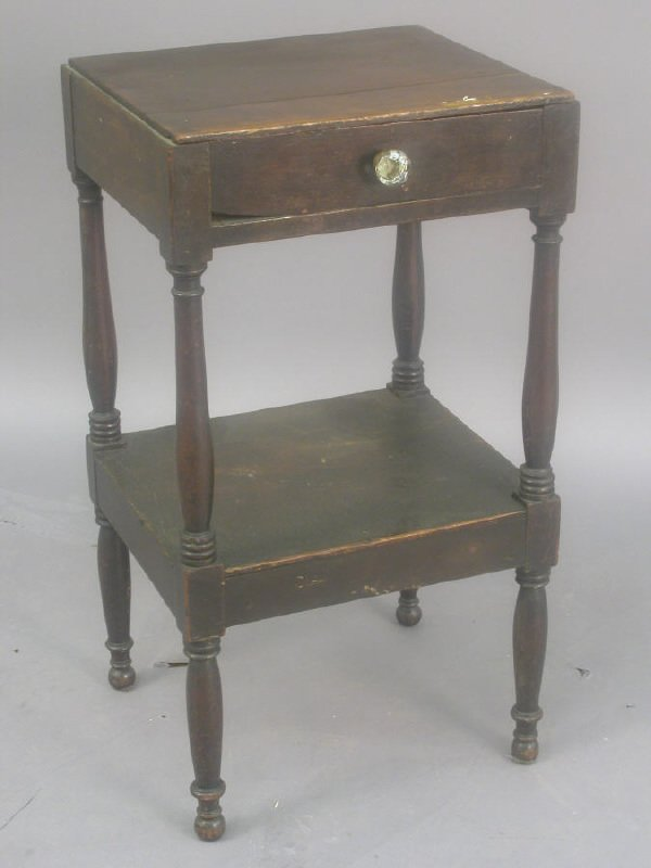 6: Early American one drawer table,