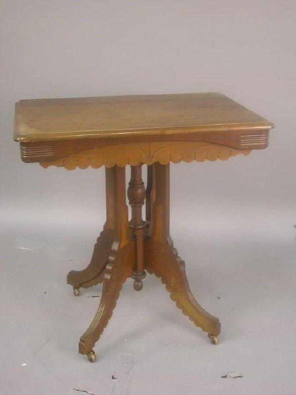 9: An Eastlake style mahogany parlor