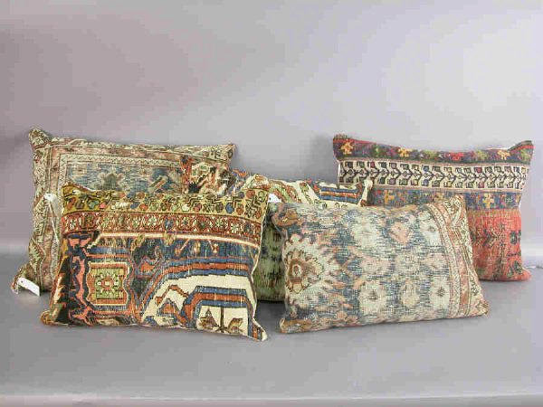 10: (5) Pillows made from portions of Oriental