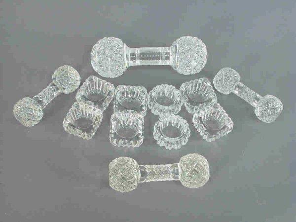 15: 12pcs. American brilliant cut glass including