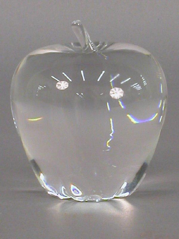 17: Signed Steuben Apple. Designed in 1940 by