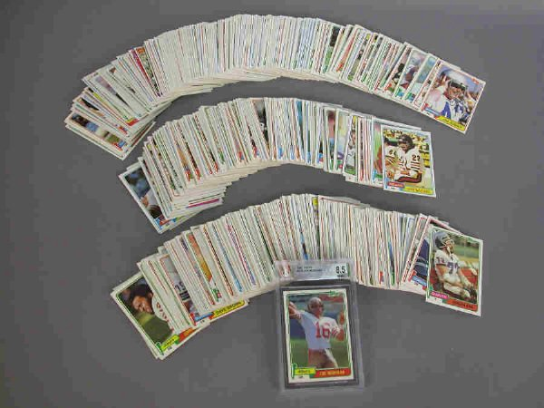 22: 1981 Topps complete set of football trading