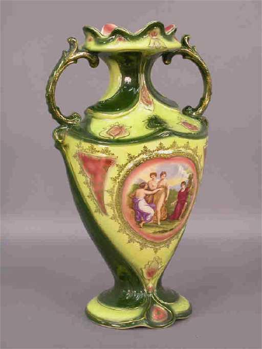 122 Austrian Vase With Handles Angelica Kauffman