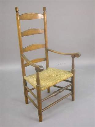 American ladder back armchair with rush