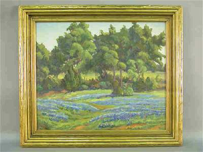 369: Signed F. McClung (LL) oil on canvas depicting