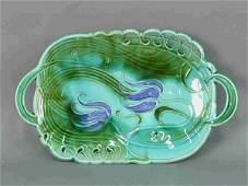 494 Villeroy  Boch  Art Nouveau Majolica platter