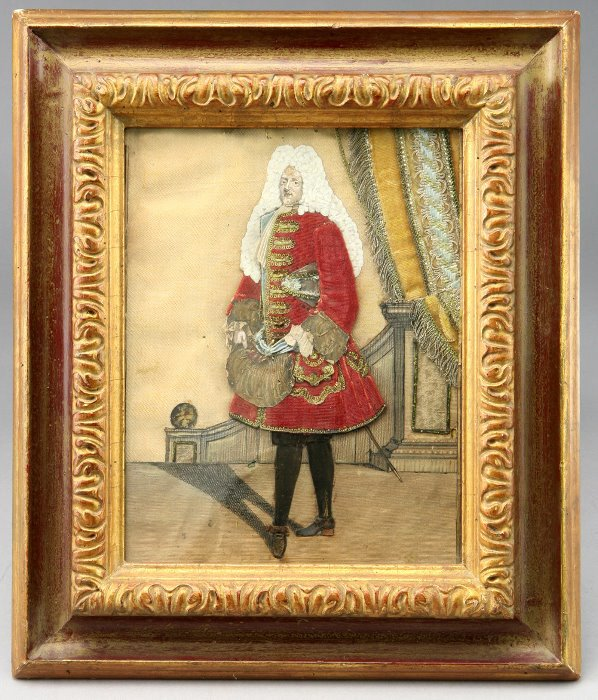 5: An unusual collage of a gentleman in 18th C.