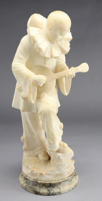 13: Signed Pugi alabaster  figural sculpture modeled