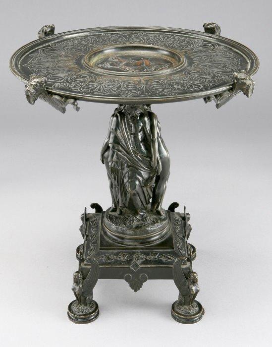 19: Bronze Napoleon III tazza, the stand