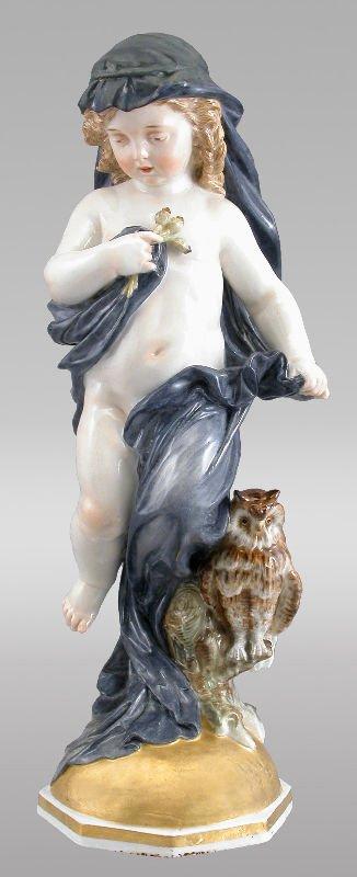 """45: A Meissen porcelain figure, """"Allegory of"""