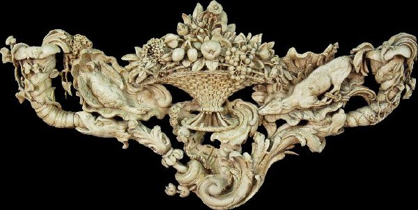 234: An impressive continental lime wood carving;