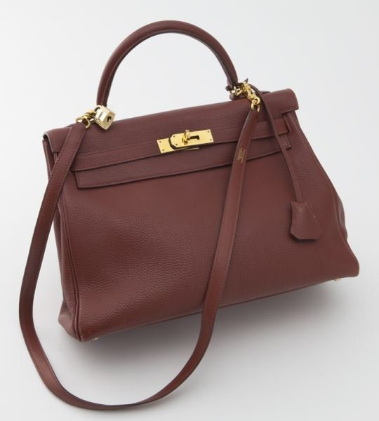 Hermes 32 cm ruby rouge garance togo Kelly bag
