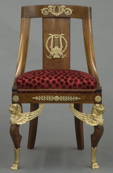 French Empire style side chair - 2