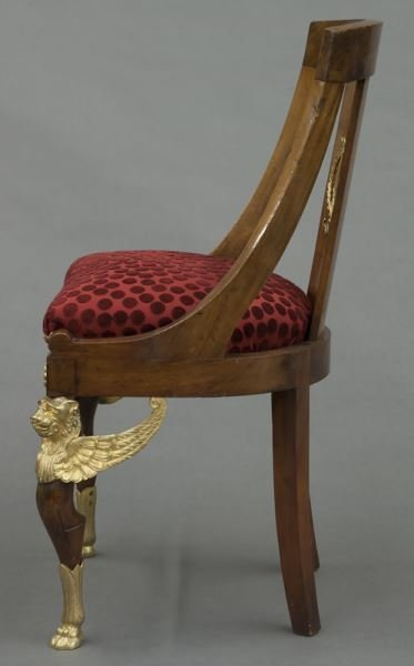 French Empire style side chair - 3