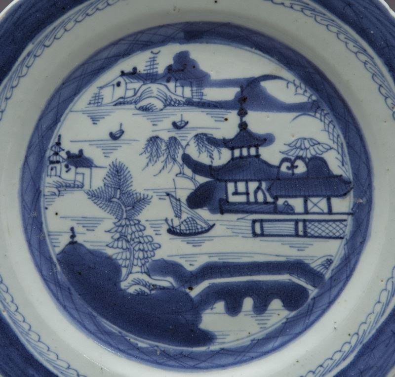 27 Pcs. Antique blue/white Canton export porcelain - 3