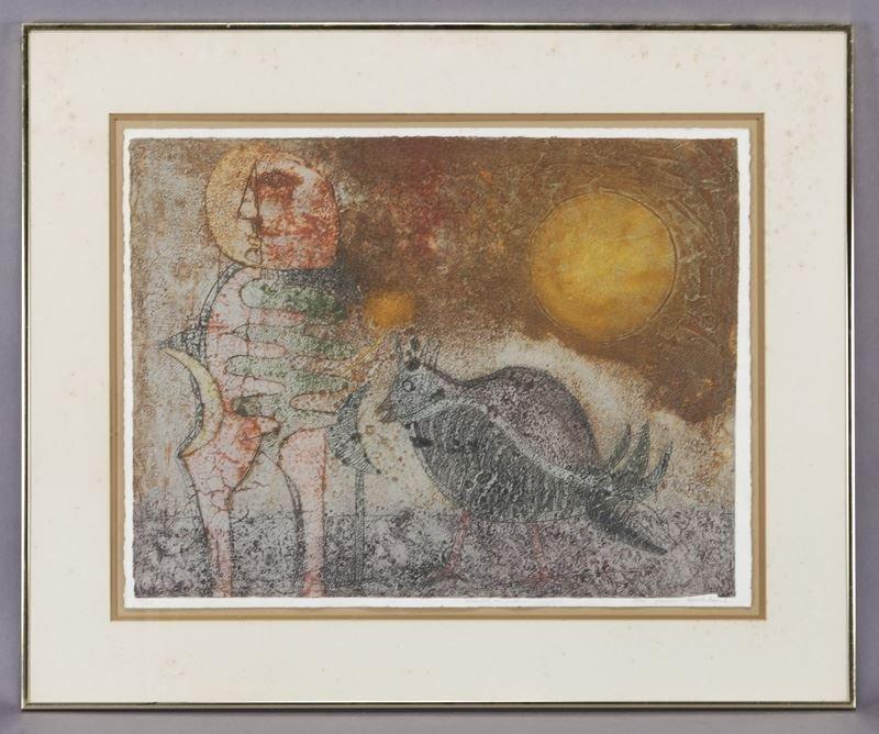 """Tedulo Rmulo """"Astronauta con gallina"""" color"""
