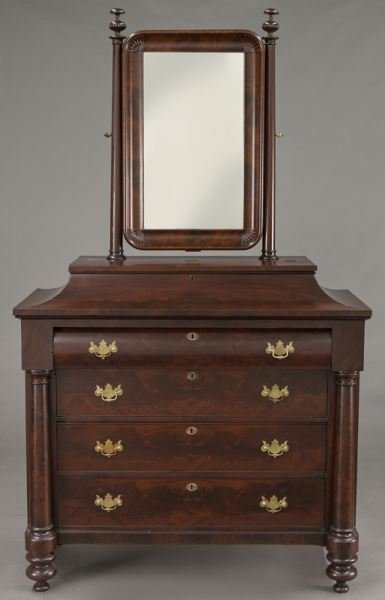 American Empire flame mahogany dressing table - 2