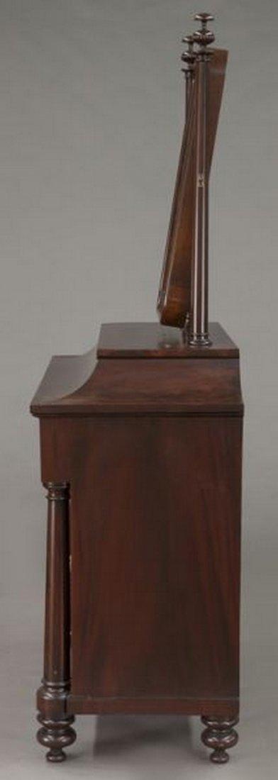 American Empire flame mahogany dressing table - 3