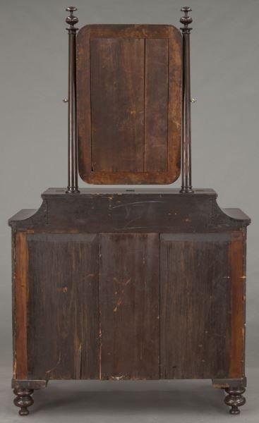 American Empire flame mahogany dressing table - 4